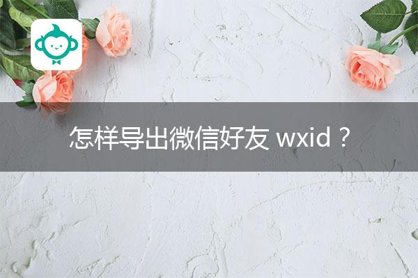 怎样导出微信好友wxid?微信导出助手.jpg